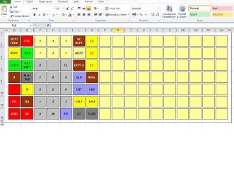 cash register keyboard template - sharp xe a213 help videos