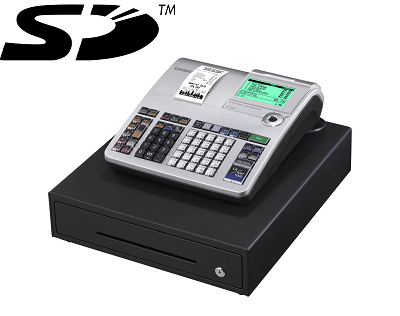 Casio Se-S400 - New Model for 2013 - Connection to a barcode scanner and Export data to SD card