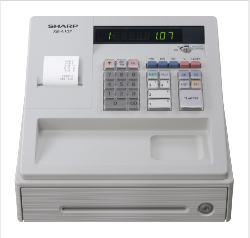how to change company name on sharp cash register